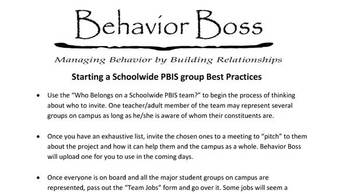 PBIS getting started guide bundle
