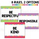 PBIS-inspired Rules Posters: Rainbow Dots Theme