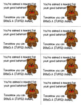 PBIS reward coupons