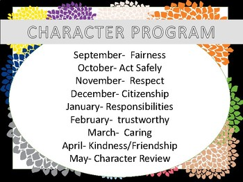 character trait - STUDENT OF THE MONTH