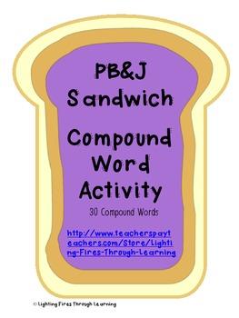PB&J Compound Word Activity