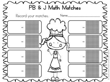 PB&J Math Matches- Decimal Names and Models