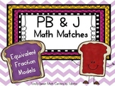 PB&J Math Matches- Equivalent Fraction Models