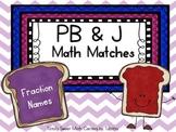 PB&J Math Matches- Fraction Names