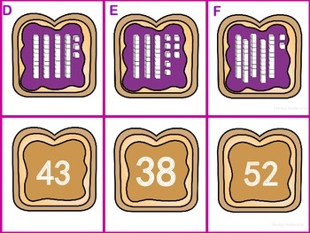 PB&J Place Value (Write the Room, Scoot, Math Center