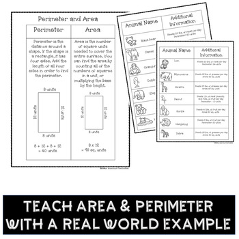 PBL Area and Perimeter Project Based Learning Activity