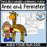 Build A Zoo Area and Perimeter Project Based Learning Math 5th Grade