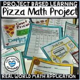 Project Based Learning Math Pizza Math PBL Math 5th Grade