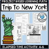 Plan A Vacation Project Based Learning Math 4th Grade Elapsed Time Activities