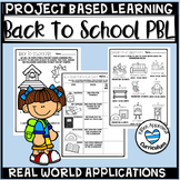 Back To School PBL Project Based Learning Math Activity