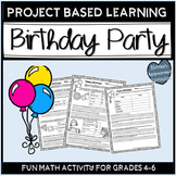 Birthday Math Activities Project Based Learning Plan A Par