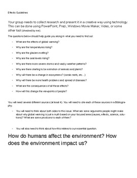 PBL- Climate Change Group Project