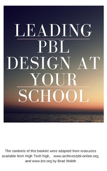 PBL Project Lesson Planning (Booklet) - PD / Design / Learning