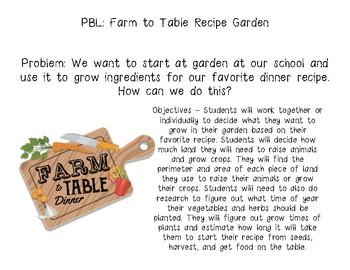 PBL Farm to Table Garden