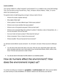 PBL Global Warming Guidelines and Rubric