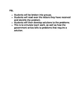 PBL- Government/Bill writing