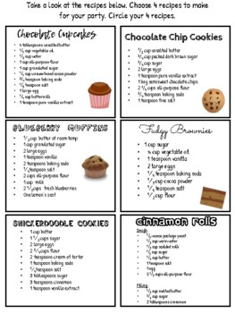 PBL: Host a Dessert Party