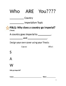 PBL Imperialism Who Are YOU