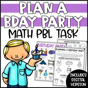 PBL Tasks & Math Challenges for At Home Learning | Plan a Birthday Party