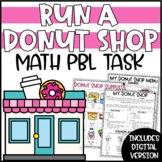 Run a Donut Shop Project Based Learning