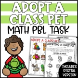 PBL Math Challenge for Distance Learning | Adopt a Class Pet Math Project