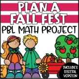 PBL Math Enrichment Project - Plan a Fall Festival