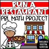 PBL Math Enrichment Project | Run a Restaurant Project Based Learning