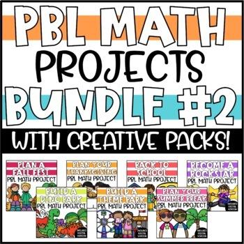 PBL Math Enrichment Projects - Math & Writing Bundle #2 - Growing Bundle!