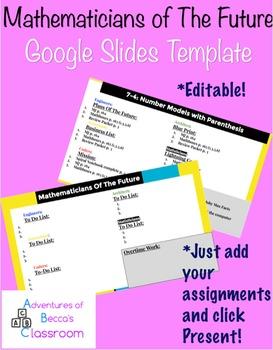 PBL Math Workshop: Google Slide Template