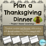 Project Based Learning: Plan a Thanksgiving Dinner