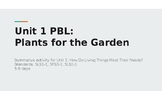 PBL: Plants for the Garden (Unit 1, Part 4)