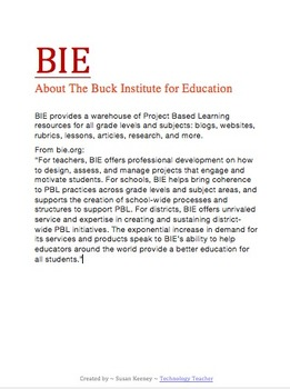 PBL: Project Based Learning Resources: All Grade Levels