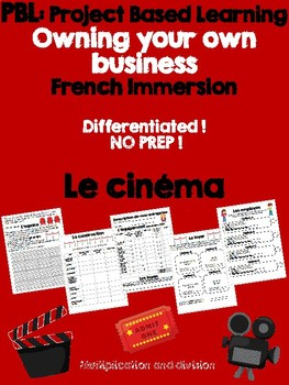 PBL Project Based Learning for Math - Owning your own business (Le cinéma)