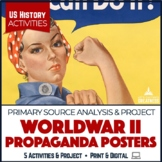 WWII Propaganda Posters Activities and Project Print & Digital