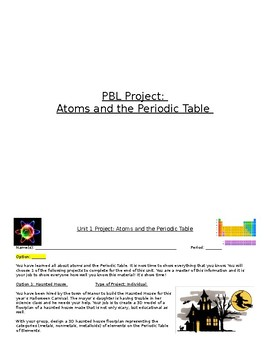 PBL Projects: Atoms and the Periodic Table