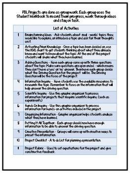 PBL Student Workbook