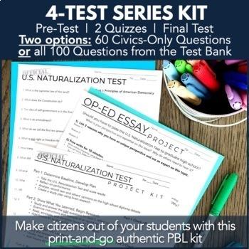 Civics PBL Unit: Citizenship Test & Op-Ed Essay Research Project