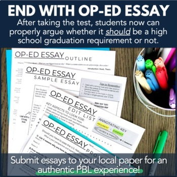Civics PBL Citizenship Test & Op-Ed Essay Research Project Unit