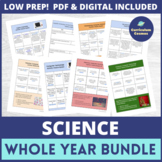 PBL Whole Year Lesson Plans for Earth, Life, and Physical