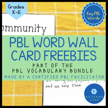 PBL Word Wall Cards FREEBIE