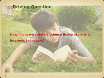 PBL: Writing a Sci Fi Story for Teens