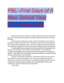PBL for First Week of School