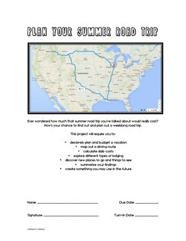 PBL in Math: Plan a Summer Road Trip