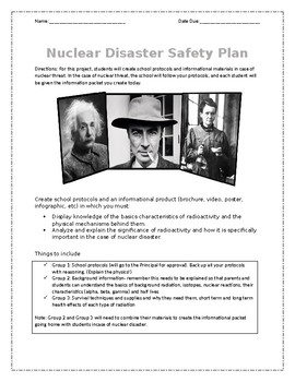 Nuclear Safety Disaster Plan PBL- radioactivity lesson