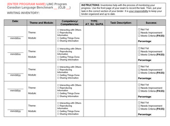 PBLA Inventory Sheets for LINC