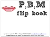 P,B,M Flip Book for words and nonsense words