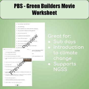 PBS - Green Builders Video Worksheet