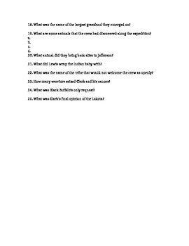 PBS Lewis and Clark: Journey of the Corps of Discovery movie guide and worksheet