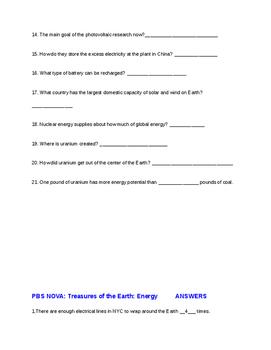 PBS NOVA: Treasures of the Earth: Energy