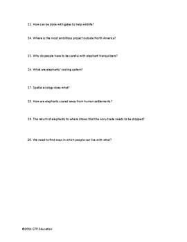 PBS NOVA: Wild Ways Video Questions